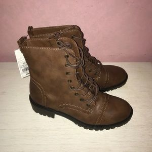 Brown Combat Boots NWT